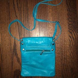 Mermaid Teal Leather Shoulder Bag!